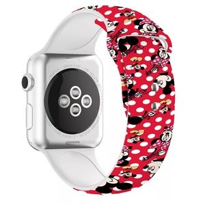 Mickey and Minnie Mouse Silicone Apple Watchband